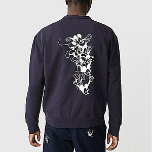 Wood Wood x Disney Hugo Sweatshirt 12025619-2486 NAVY obraz