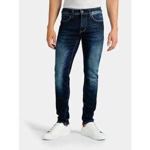 Pánské jeansové kalhoty tmavě modré obraz