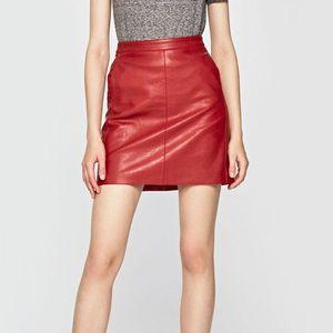 Pepe Jeans dámská vínová koženková sukně Carry obraz