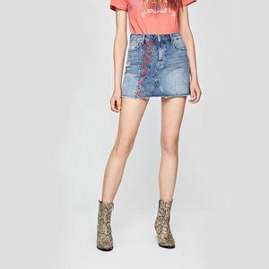 Pepe Jeans dámská džínová sukně Dani Archive obraz