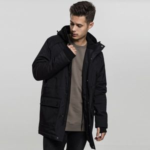 Urban Classics Hooded Heavy Thumbhole Parka black obraz