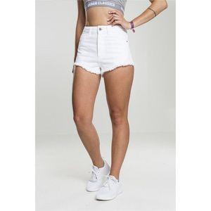 Urban Classics Ladies Denim Hotpants white obraz