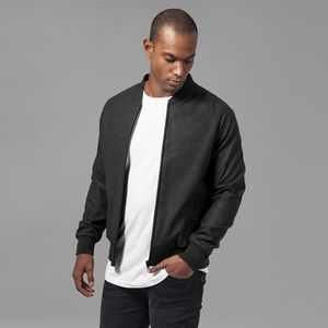Urban Classics Imitation Leather Raglan Blouson black obraz