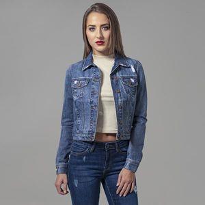 Urban Classics Ladies Denim Jacket ocean blue obraz