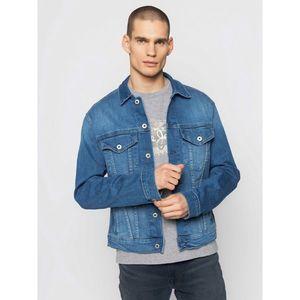 Pánská jeansová bunda modrá obraz