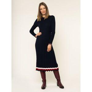 Úpletové šaty TOMMY HILFIGER obraz