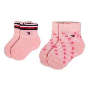 Sada 2 párů dětských vysokých ponožek TOMMY HILFIGER obraz