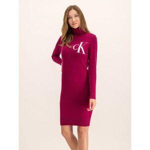 Úpletové šaty Calvin Klein Jeans obraz