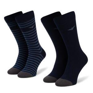 Sada 2 párů pánských vysokých ponožek Emporio Armani obraz
