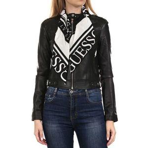 Guess dámská černá koženková bunda obraz