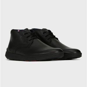 Tommy Hilfiger pánská černá kožená kotníková obuv obraz