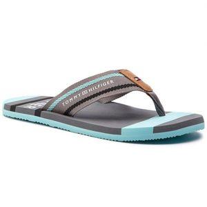 Nazouvací šedé sandály obraz