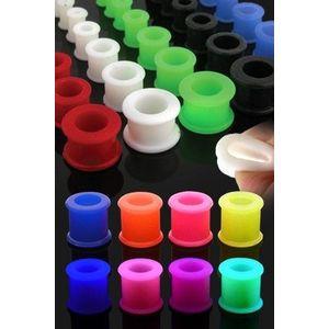 Tunnel do ucha UV ohebný, gumový - Tloušťka : 9 mm, Barva piercing: Světlá Modrá obraz