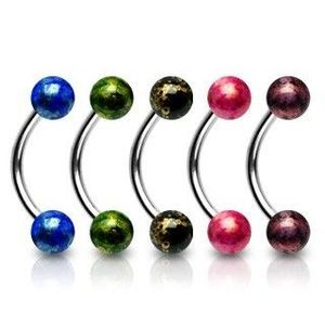 Piercing do obočí akrylové kuličky - Barva piercing: Modrá obraz