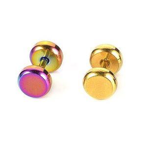 Piercing do ucha z oceli barevný - Barva piercing: Duhová obraz
