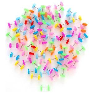 Fake plug - neonové barvy - Barva piercing: Růžová obraz