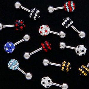 Piercing do tragusu - zirkonová koule - Barva zirkonu: Černá - červená - pás obraz