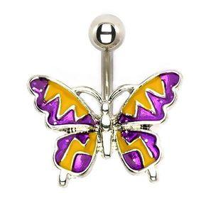 Ocelový piercing - letní motýl obraz
