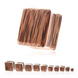 Plug do ucha - kokosové drevo v tvare štvorca - Tloušťka : 5 mm obraz