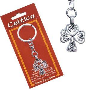 Přívěsek na klíče, kovový, keltský motiv stromu obraz