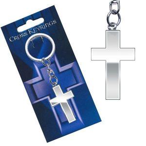 Kovový přívěsek na klíče - lesklý latinský kříž obraz