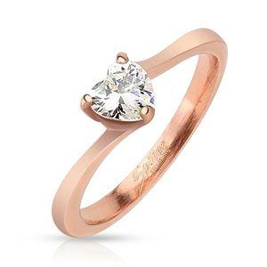 Ocelový prsten měděné barvy obraz