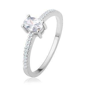 Tenký prsten ze stříbra obraz