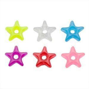Přívěsek na piercing - barevná akrylová hvězdička - Barva: Fialová obraz