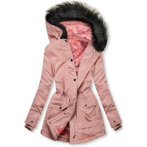 Růžová bunda zateplena plyšem obraz