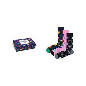 Happy Socks 3-Pack Mixed Cat Socks Gift Set-7.5-11.5 Multicolor XMJA08-0100-7.5-11.5 obraz