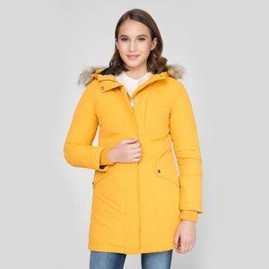 Tommy Jeans dámská hořčicově žlutá zimní parka obraz