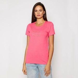 Tommy Jeans dámské růžové tričko Metallic obraz