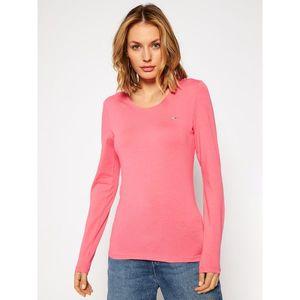 Tommy Jeans dámské růžové tričko s dlouhým rukávem Jersey obraz