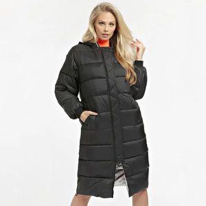Guess dámská černá dlouhá bunda obraz