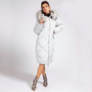 Guess dámská šedá dlouhá bunda obraz