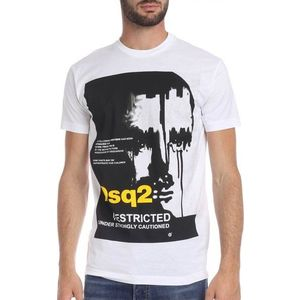 Dsquared2 pánské tričko Barva: Bílá, Velikost: S obraz