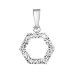 Evolution Group Stříbrný přívěsek s krystaly Swarovski v bílé barvě 74073.1 obraz