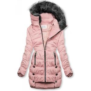 Růžová prošívaná bunda na zimu obraz