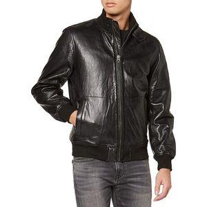 Pepe Jeans pánská černá koženková bunda Freddie obraz