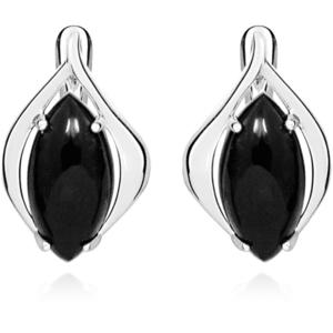 JVD Stylové stříbrné náušnice s černým onyxem SVLE0348SH8BL00 obraz