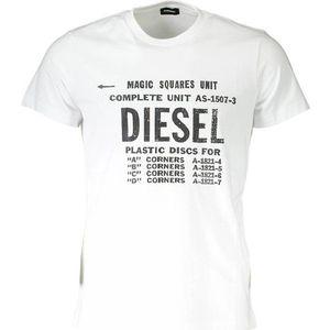 Diesel pánské tričko Barva: Bílá, Velikost: XL obraz