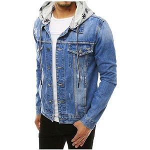 Světle modrá džínová pánská bunda obraz