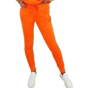 Oranžová dámská tepláková souprava obraz