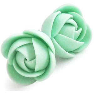 Troli Zelenkavé náušnice puzetky menší kytičky obraz
