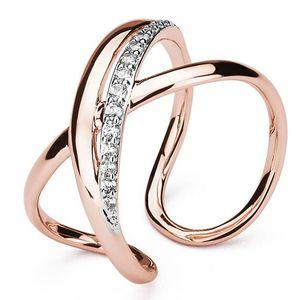 Brosway Otevřený bicolor prsten se zirkony Ribbon BBN32 obraz