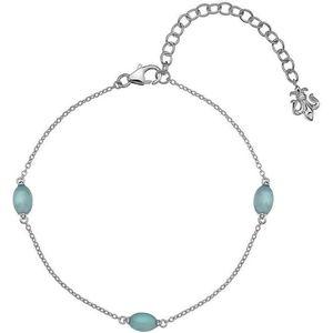 Hot Diamonds Stříbrný náramek pro narozené v září Anais modrý achát AB009 obraz