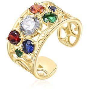 Brosway Pozlacený otevřený prsten se zirkony Corinto BOI32 obraz