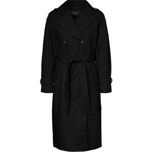 Vero Moda Dámský kabát VMHAMBORG LONG TRENCHCOAT KI Black S obraz