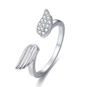 Beneto Stříbrný otevřený prsten se zirkony AGG336 52 mm obraz