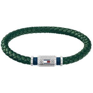 Tommy Hilfiger Trendy zelený kožený náramek TH2790084 obraz